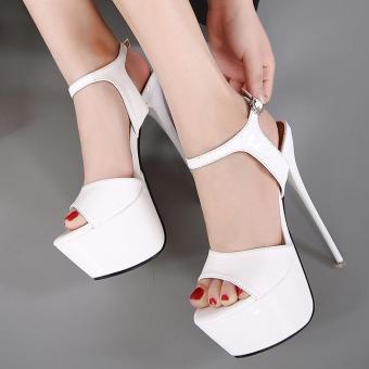 Women's Platform Shoes Party Sandals White - intl - 2