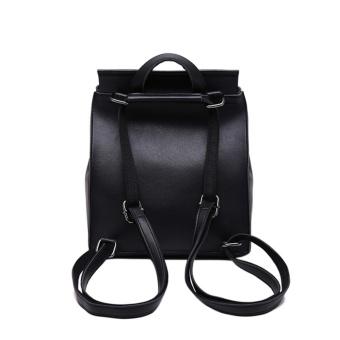 Women's Pu Leather Backpack Purse Ladies Casual Shoulder Bag SchoolBag for Girls - intl - 2