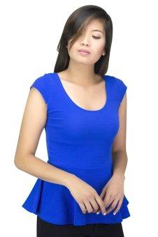 Women's Short Sleeve Blouse (Blue)