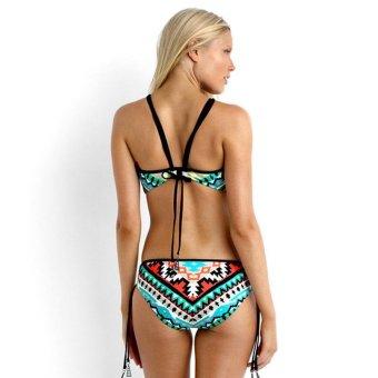 Womens Swimsuit Swimwear Two-Piece Split Graphic Bikini Sets - intl - 2