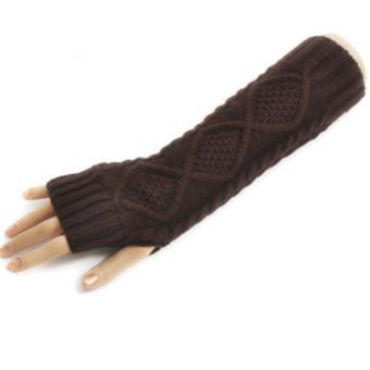 Women's Warm Winter Gloves Mittens Coffee - Intl
