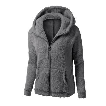 WomenThickFeece War Winter Coat Hooded Parka Overcoat JacksetOutwear - 3