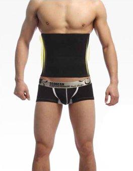 WONDERSHOP Stylish Men Shapewear Fat Slim Belt Tummy Cincher Corset Stomach Body Shapers ( Black ) - intl - 2
