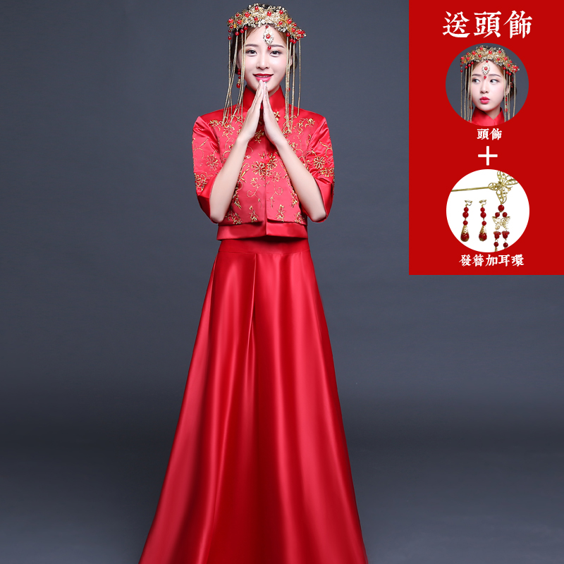 Philippines | Xiu He clothes Red Dragon and Phoenix gown bride ...