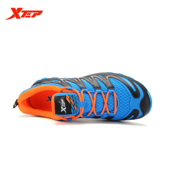 XTEP Brand 2016 New Summer Men's Running Shoes Cross-Country Trail Shoes Air Mesh Sneakers Comfortable Sports Shoes (Blue/Black) - 3