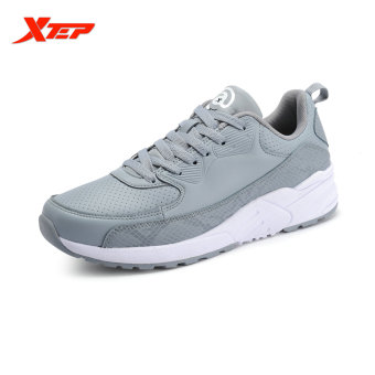XTEP Brand Running Shoes for Men Athletic Runbber Sneakers Damping Sports Shoes Autumn Winter Men's Shoes (Grey) - intl