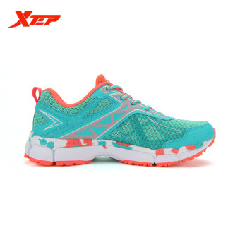 XTEP Summer Running Shoes for Women Brand 2016 Sports Shoes Women's Shoes Sneakers Big Size Ladies Breathable Shoes (Red/Green) - 2