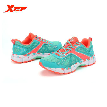 XTEP Summer Running Shoes for Women Brand 2016 Sports Shoes Women's Shoes Sneakers Big Size Ladies Breathable Shoes (Red/Green) - 5