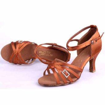 Yashion fashion woman's ballroom latin dance shoes modern salsatango shoes for dance(Brown) Price Philippines