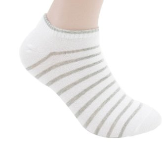 Yazilid Mens Low Cut Ankle Sock (White)