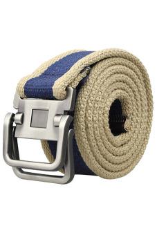 Yazilind Double Metal Buckle Belt Blue