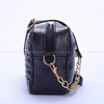 Yogodins Women's Black Crown Brooch Design Chain Strap MessengerBag - 3