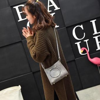 ZAHI FASHION Korean Cross Body Girls Fashion Bag (Gray) - 3