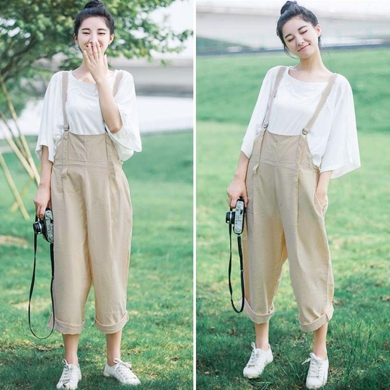 fefeb18edf9 ... ZANZEA Rompers Hot Sale Womens Jumpsuit Autumn Solid Wide Leg  PantsPlaysuits Sleeveless Casual Loose Overalls Plus ...