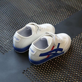 ZH Boy's Sports Shoes With White Shoes And Casual Shoes Blue - 2