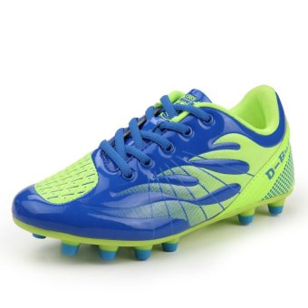 ZHAIZUBULUO Men Outdoor Football Shoes Training Boots Soccer Cleat TP-D02 Blue (Intl) - picture 2
