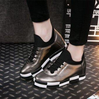 ZHAIZUBULUO Women's Heightening Running Shoes Golden (Intl) - picture 2