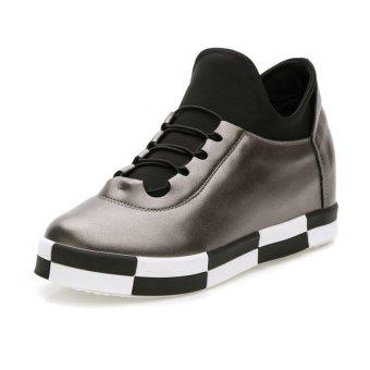 ZHAIZUBULUO Women's Heightening Running Shoes Golden (Intl)