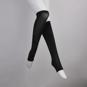 Zipper Compression Socks Zip Leg Support Knee Stockings Open Toe Black XXL - 4