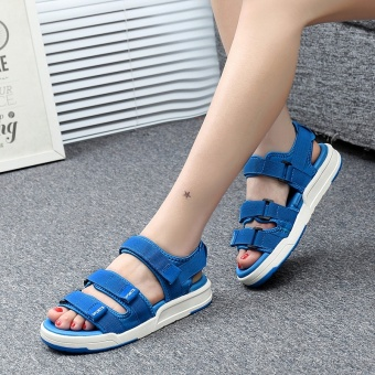 ZNPNXN Lovers Shoes Summer New Style Trend Men Slippers Comfortable And Soft Mens Shoes Fashion High End Leisure Sports Sandals Size 35-44 Yards (Blue) - intl - 2