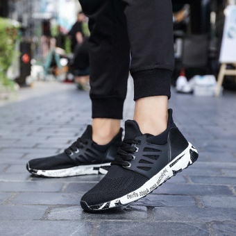 ZNPNXN Men'S Shoes Fashion Outdoor Sports Shoes The Summer Sports Shoes Shoes Lightweight Running Shoes Mens Shoes Luxury Size 39-44 Yards (Black) - intl - 3