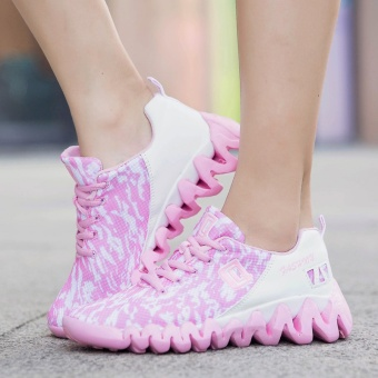 ZNPNXN Women'S Shoes Net Cloth Air Cushion Running Shoes Bradyseism Stylish And Comfortable Gym Shoes Women Shoes (Pink) - intl - 3
