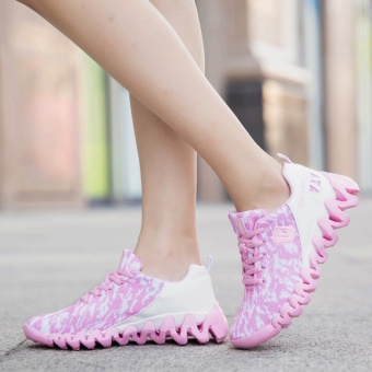 ZNPNXN Women'S Shoes Net Cloth Air Cushion Running Shoes Bradyseism Stylish And Comfortable Gym Shoes Women Shoes (Pink) - intl - 5
