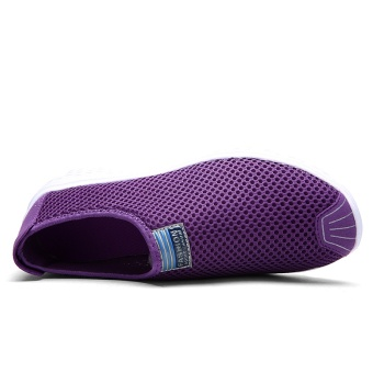 ZNPNXN Women'S Shoes Slip-On Net Cloth Shoes Slip On Shoes For Women Casual Breathable Comfort Shoes Womens Spring ShoesZapatillas Mujer(Purple) - intl - 2