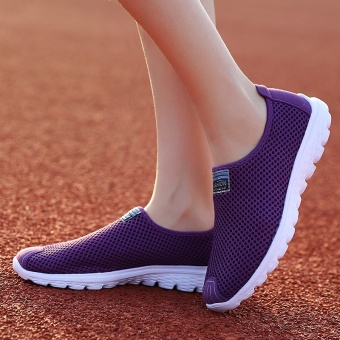 ZNPNXN Women'S Shoes Slip-On Net Cloth Shoes Slip On Shoes For Women Casual Breathable Comfort Shoes Womens Spring ShoesZapatillas Mujer(Purple) - intl - 5
