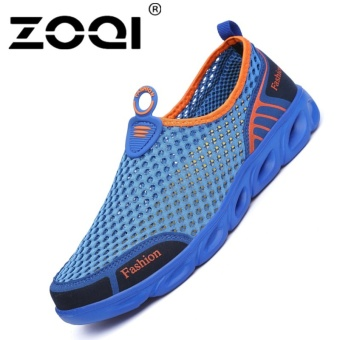 ZOQI Men's And Women's Fashion Mesh Light Breathable Sport ShoesWater Shoes(Blue) - intl