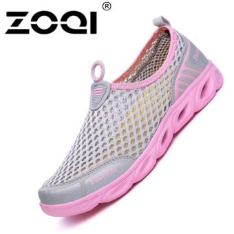 ZOQI Men's And Women's Fashion Mesh Light Breathable Sport ShoesWater Shoes(Pink) - intl