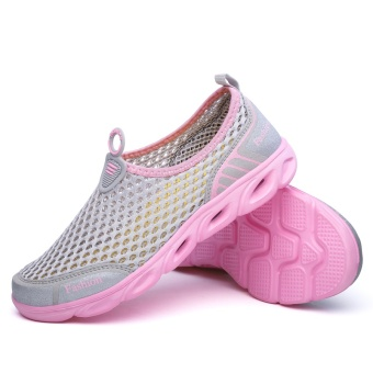 ZOQI Men's And Women's Fashion Mesh Light Breathable Sport ShoesWater Shoes(Pink) - intl - 2