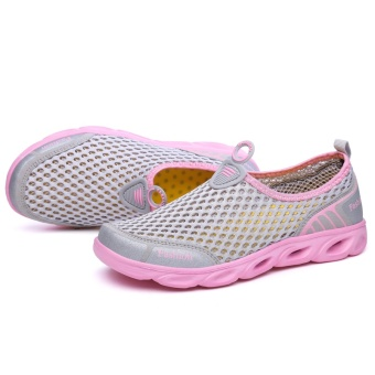 ZOQI Men's And Women's Fashion Mesh Light Breathable Sport ShoesWater Shoes(Pink) - intl - 3