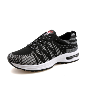 ZUNCLE Men's Casual Sports Breathable Shoes (Black)