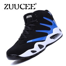 PHP 1.047. ZUUCEE Men Winter High-top Basketball Shoes Air Causion Sports Sneakers(blue black) - intlPHP1047. PHP 1.047