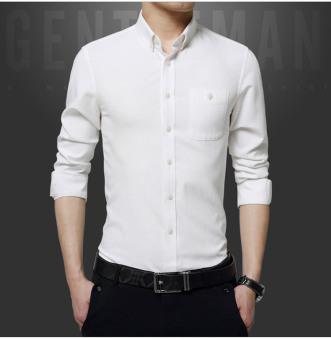 ZYSK Men Formal Long Sleeve Shirts White 62514 - 2