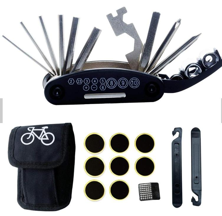 Electric Scooter Repair Tool Kit -16 in 1 Multifunction Tools Set with Tire  Patch and Tire Levers - compatible with Xiaomi M365