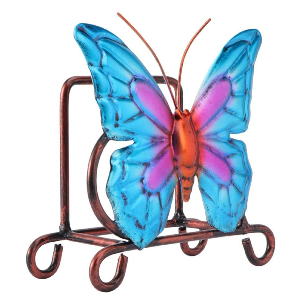 Metal Napkin Holder Butterfly Shaped Tabletop Napkin Holder Freestanding Tissue Dispenser Rustic Dining Table Decor Lazada