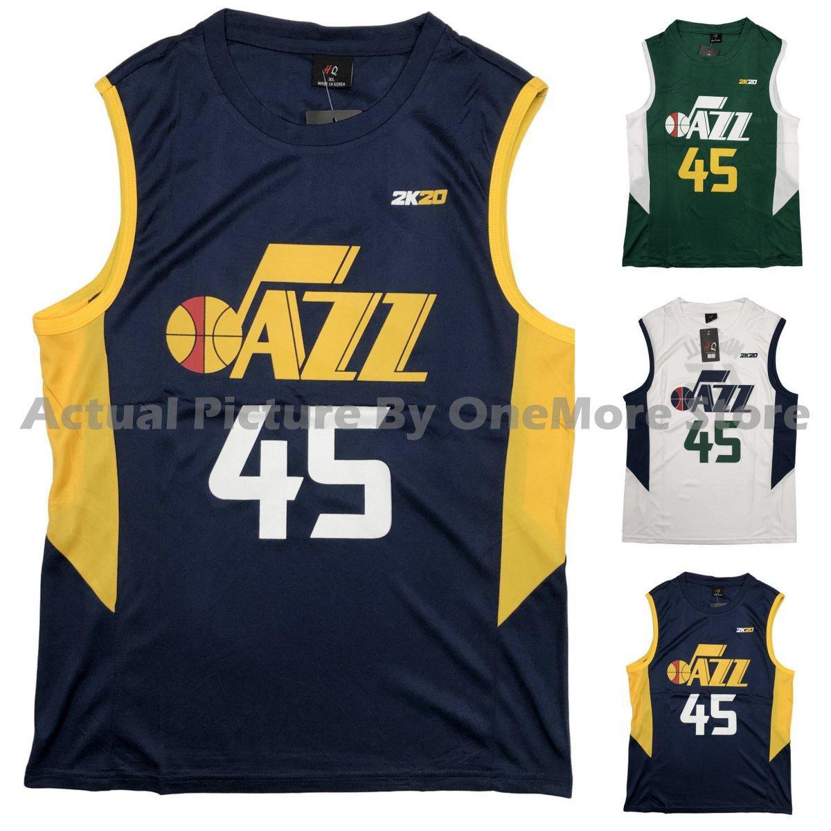 promo code dec46 cfe89 OneMore NBA Jersey Jazz #45 Mitchell Drifit Jersey Good Quality