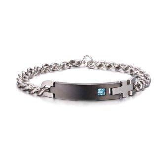 1 Pair Titanium Steel Lovers Bracelet Couples Bracelet for Valentines Gift - intl - 2