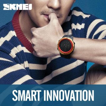 [100% Genuine]2017 NEW Men's Smart Sport Watch New SKMEI BrandBluetooth Calorie Pedometer Fashion Watches Men 50M WaterproofDigital Clock Wristwatch 1250 - intl - 2