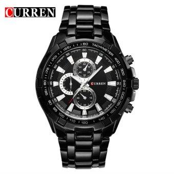 [100% Genuine]CURREN 8023 Mens Watches Top Brand Luxury Men Military Wrist Watches Full Steel Men Sports Watch Waterproof - 5
