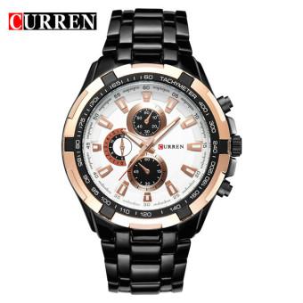 [100% Genuine]CURREN 8023 Mens Watches Top Brand Luxury Men Military Wrist Watches Full Steel Men Sports Watch Waterproof - 4