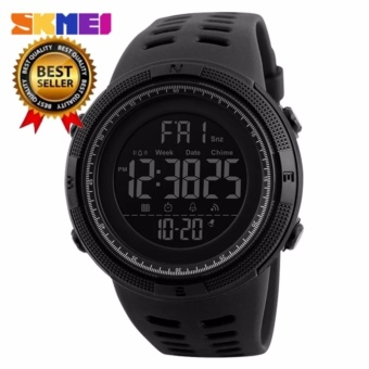 [100% Genuine]New SKMEI men's sports watch chronograph alarm clock digital watch 50M waterproof dual time countdown stopwatch 1251 - intl