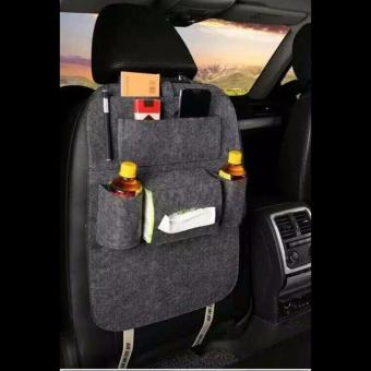 100% Imported Back Seat Car Seat Organiser  -Set of 1 (Grey) Price Philippines