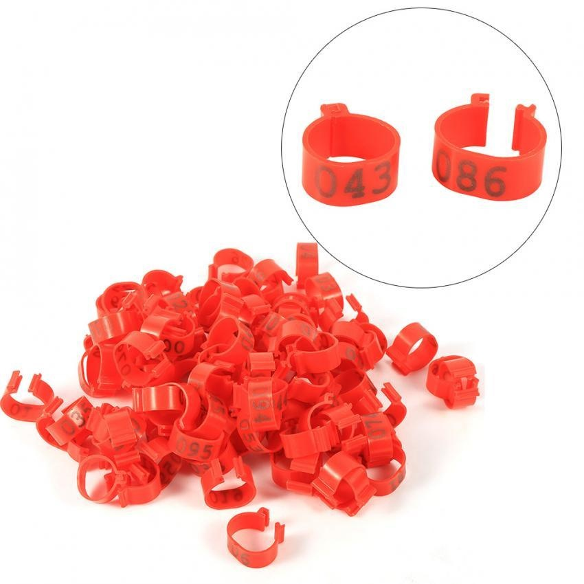 Philippines   100PCS 16MM Plastic 001-100 Numbered Poultry