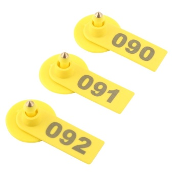 100Pcs/Set Sheep Goat Hog Pig Cattle Beef Cow Livestock Ear Number Tag Farm Animal Accessories - intl - 3