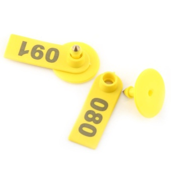 100Pcs/Set Sheep Goat Hog Pig Cattle Beef Cow Livestock Ear Number Tag Farm Animal Accessories - intl - 5
