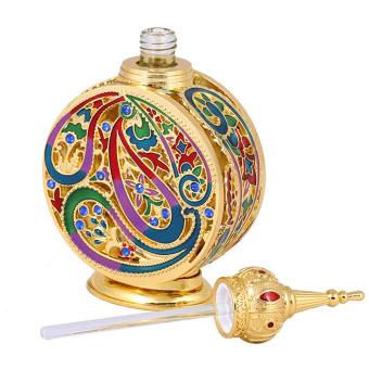 10ml Portable Empty Refillable Retro Travel Perfume Essential Oil Glass Bottle Container Bottles - 3