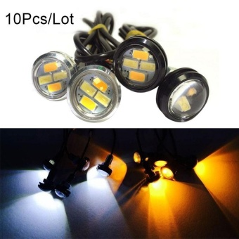 10pcs 23mm 5630 External Lights Source LED DRL Eagle Eye Daytime Running Warning Fog Light Turning Signal - intl